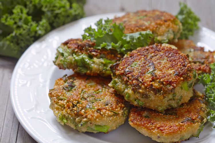 Crispy Quinoa and Kale Fritters