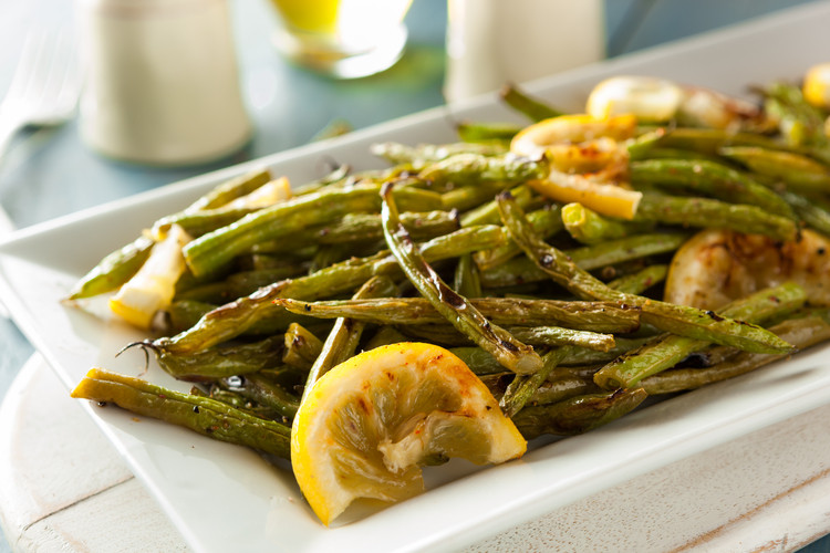 Roasted Green Beans with Lemon and Garlic