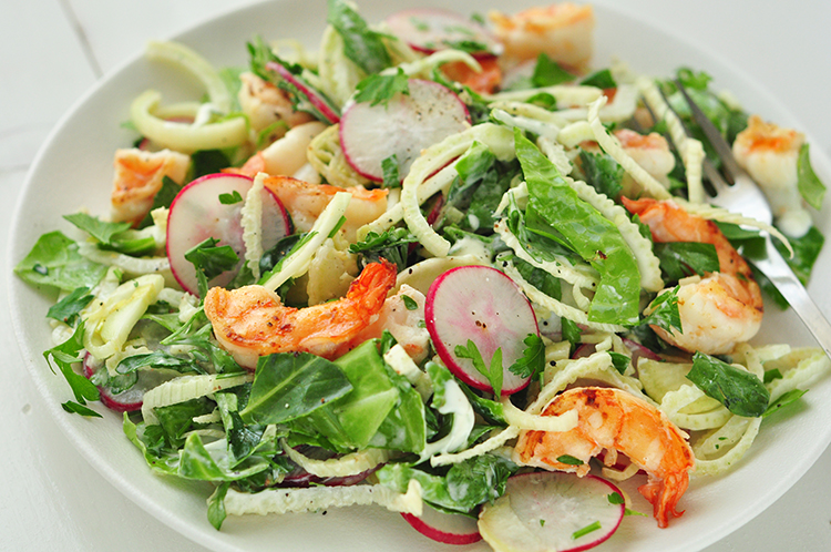 Grilled Shrimp and Chopped Salad