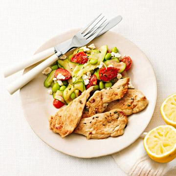 How to cook Lemon-Thyme Chicken with Sauteed Vegetables