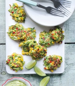 Never Hear Corn and Courgette Cakes