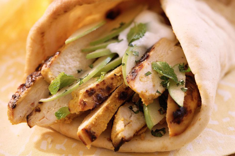 A chicken gyro